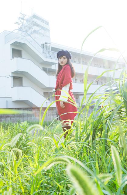 モデルさんのような小島藤子。